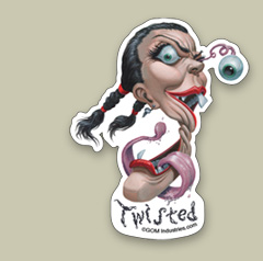 Twisted Sticker